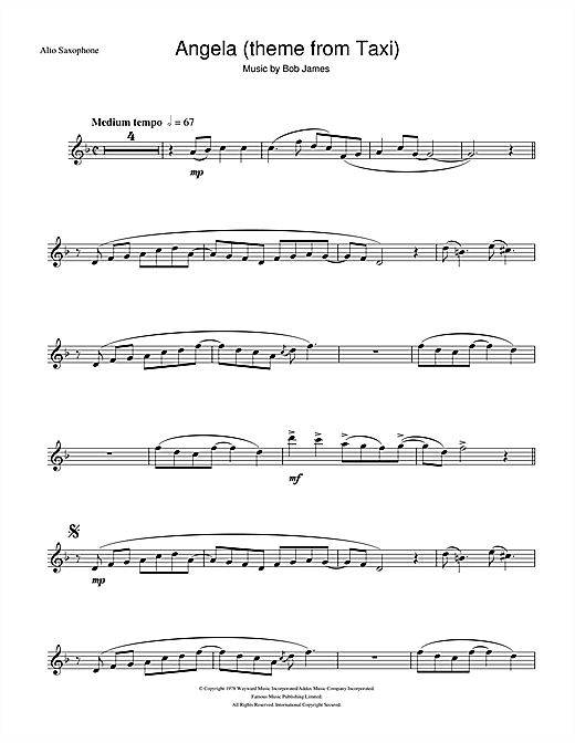 Angela (theme from Taxi) Sheet Music