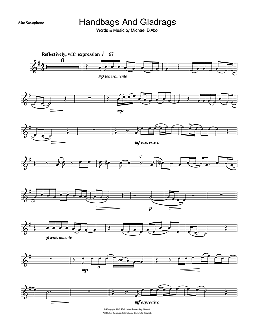 Handbags And Gladrags Sheet Music
