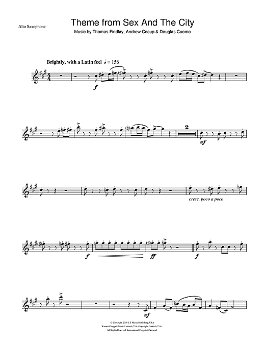 Theme from Sex And The City Sheet Music