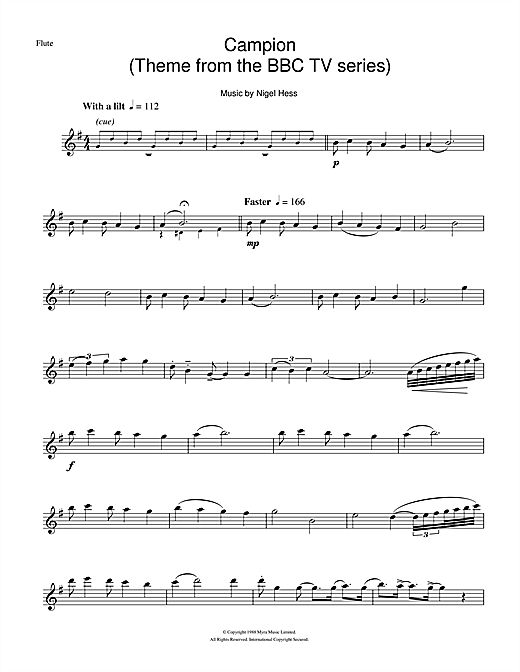 Campion (Theme from the BBC TV series) Sheet Music