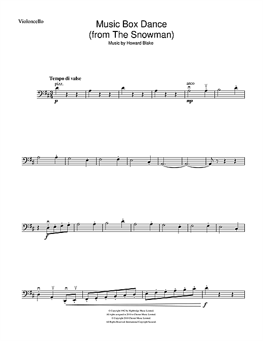 Music Box Dance (from The Snowman) Sheet Music