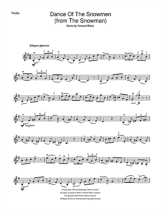 Dance Of The Snowmen (from The Snowman) (Violin Solo)