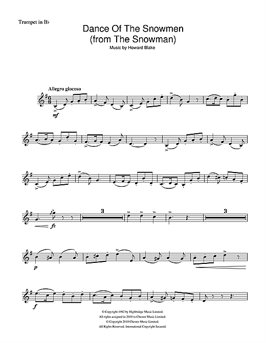 Dance Of The Snowmen (from The Snowman) (Trumpet Solo)