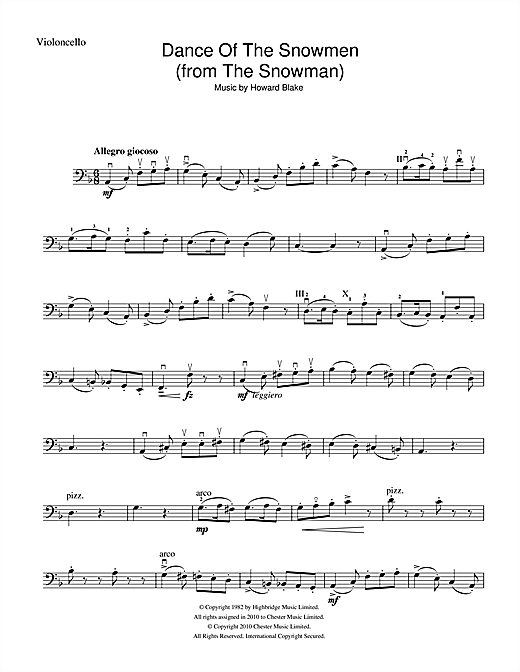 Dance Of The Snowmen (from The Snowman) Sheet Music
