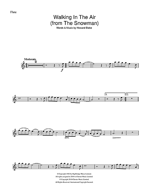 Walking In The Air (theme from The Snowman) (Flute Solo)