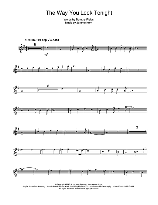 The Way You Look Tonight Sheet Music