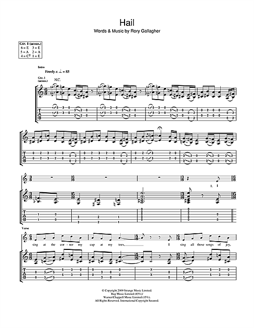 Tablature guitare Hail de Taste - Tablature Guitare