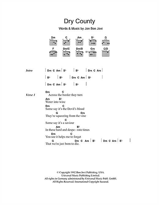 Dry County Sheet Music
