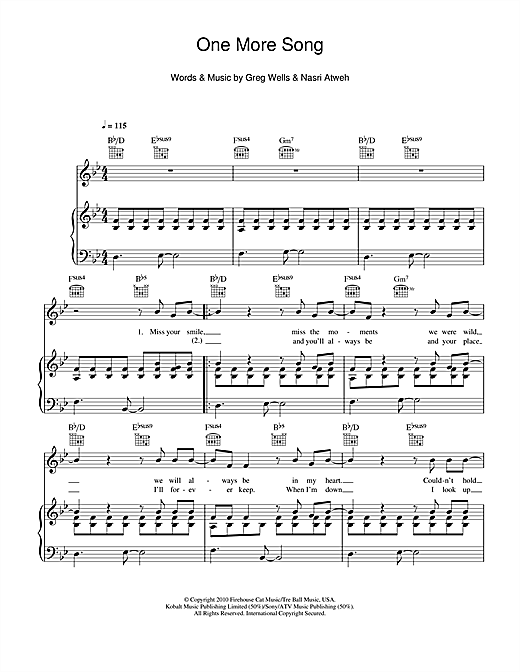One More Song Sheet Music
