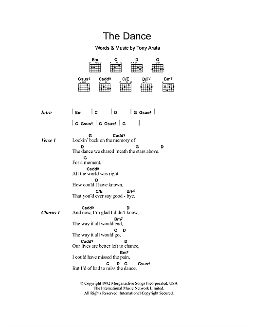The Dance Sheet Music