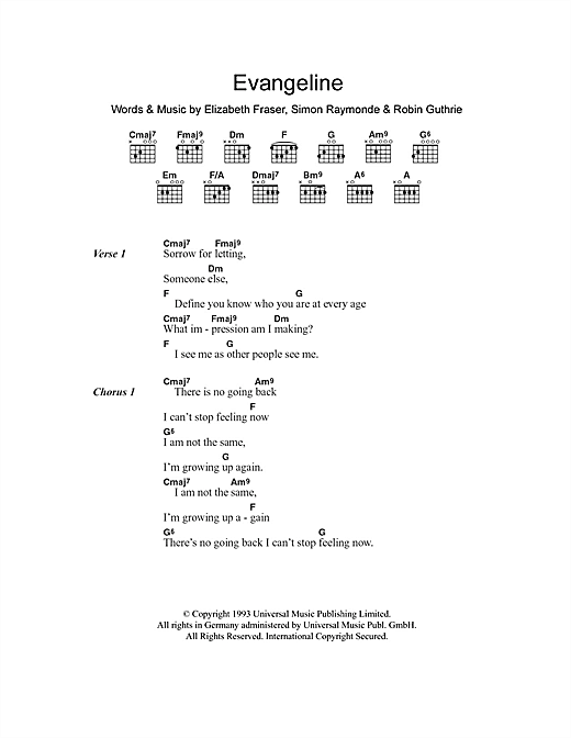 Evangeline Sheet Music