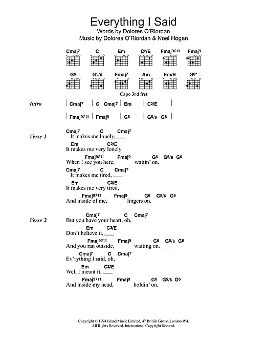Zombie The Cranberries Lyrics And Chords
