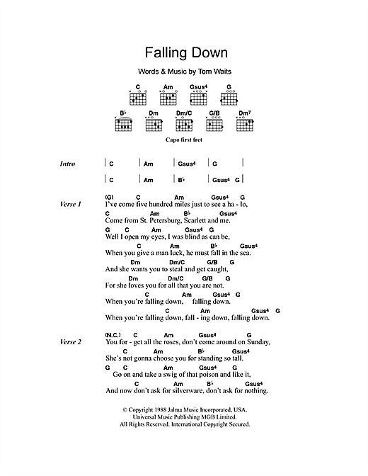Falling Down Sheet Music