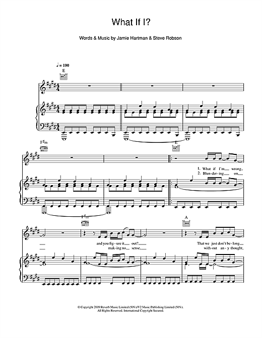 What If I? Sheet Music