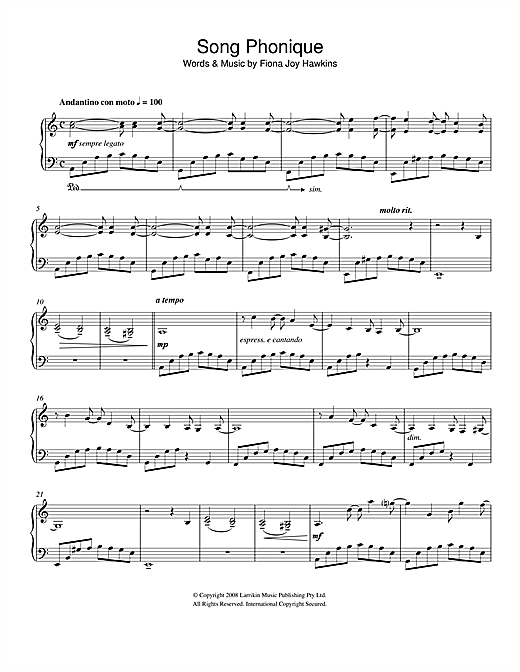 Song Phonique Sheet Music