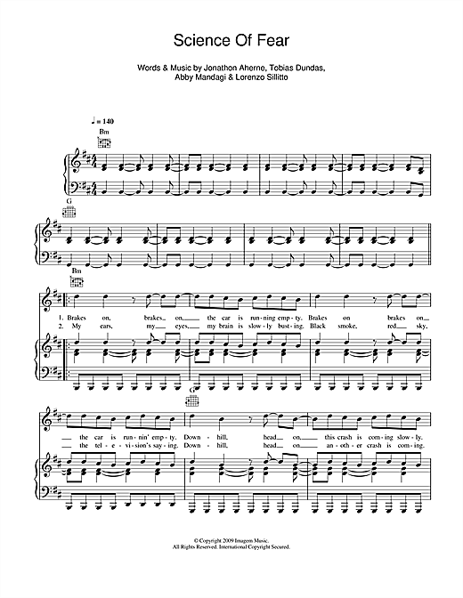 Science Of Fear Sheet Music
