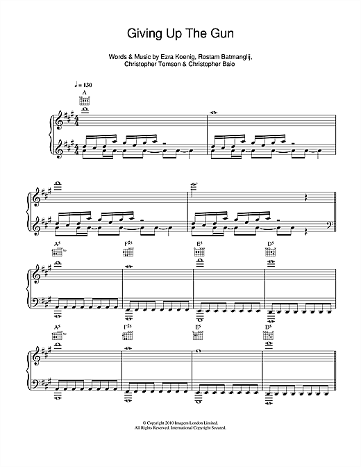 Giving Up The Gun Sheet Music