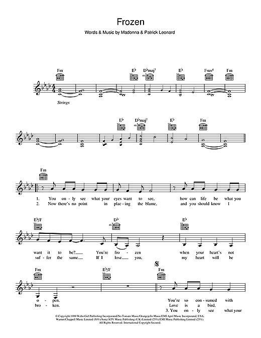 Frozen Sheet Music