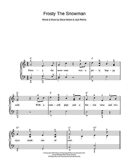 Frosty The Snowman Sheet Music