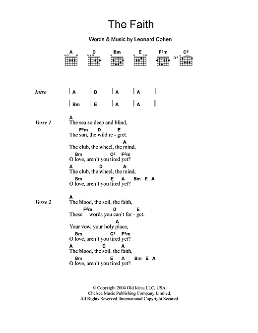 The Faith (Guitar Chords/Lyrics)