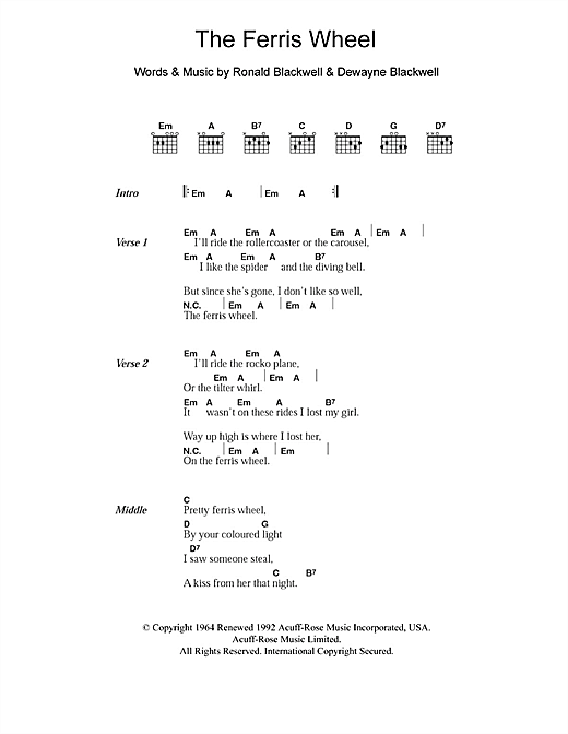 The Ferris Wheel Sheet Music