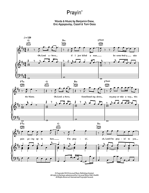 Prayin' Sheet Music