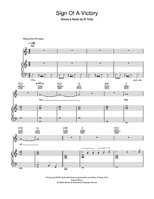 Sign Of A Victory [The Official 2010 FIFA World Cup™ Anthem] (feat. Soweto Spiritual Singers) Sheet Music
