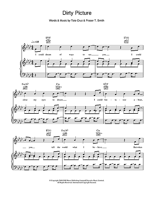 Dirty Picture (feat. Ke$ha) Sheet Music