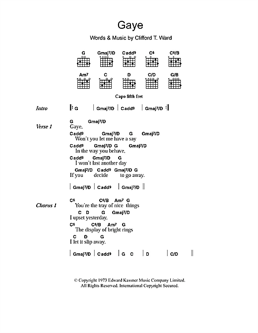 Gaye Sheet Music
