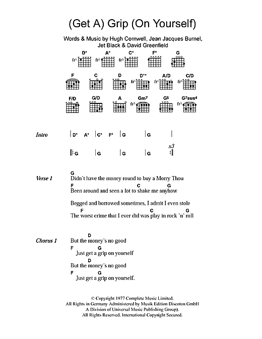 (Get A) Grip (On Yourself) Sheet Music