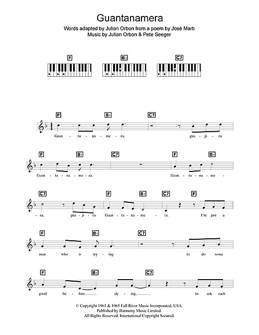 Guantanamera Sheet Music