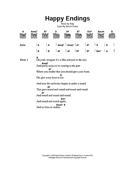 Happy Endings Sheet Music