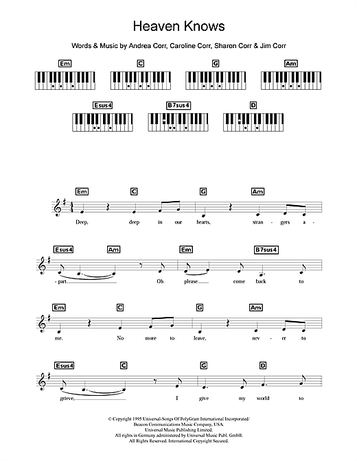 Heaven Knows Sheet Music