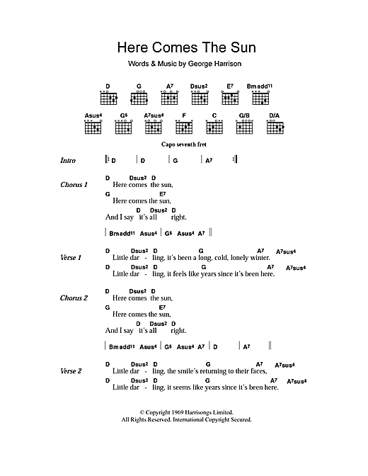 Here Comes The Sun Sheet Music