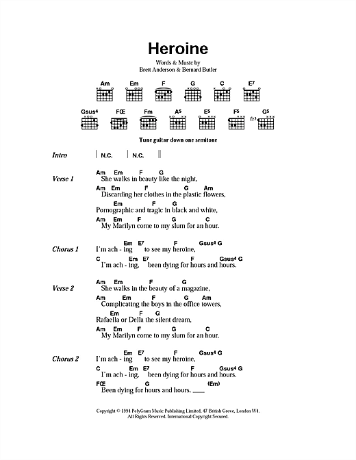 Heroine Sheet Music