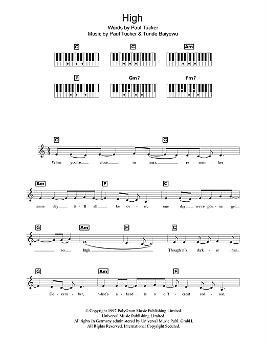 High Sheet Music