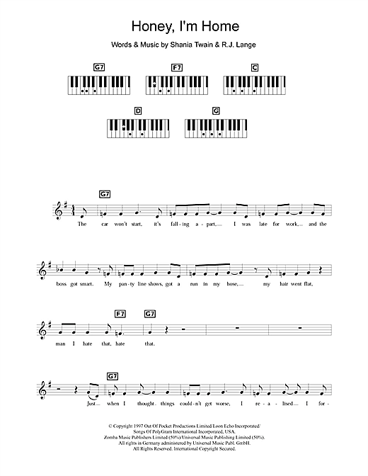 Honey, I'm Home Sheet Music
