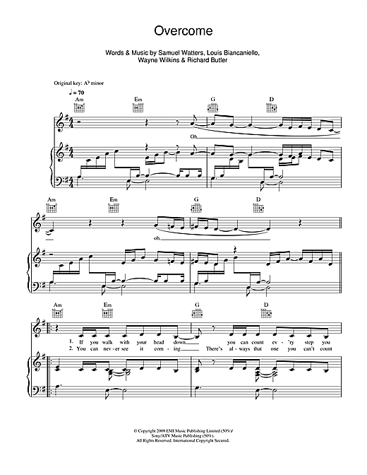Overcome Sheet Music