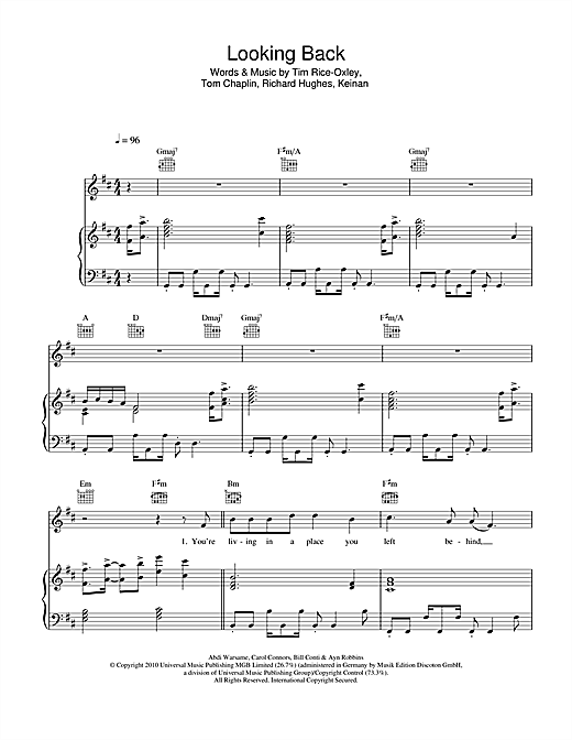 Looking Back Sheet Music