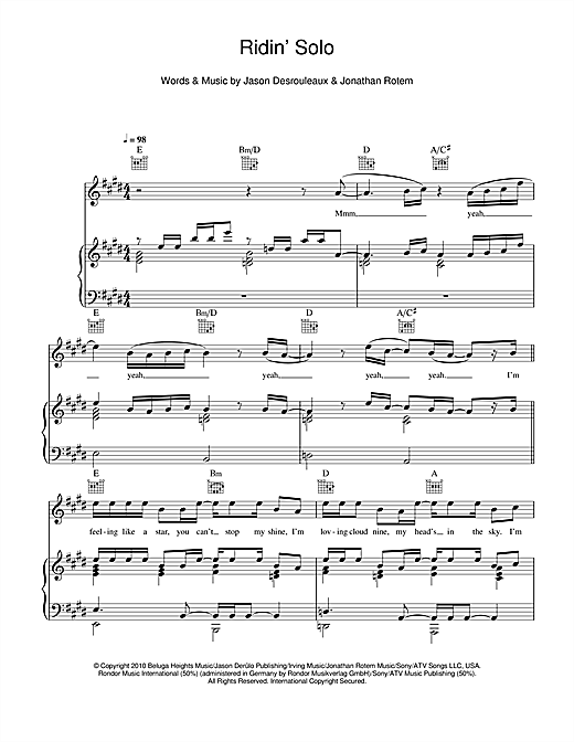 Ridin' Solo Sheet Music