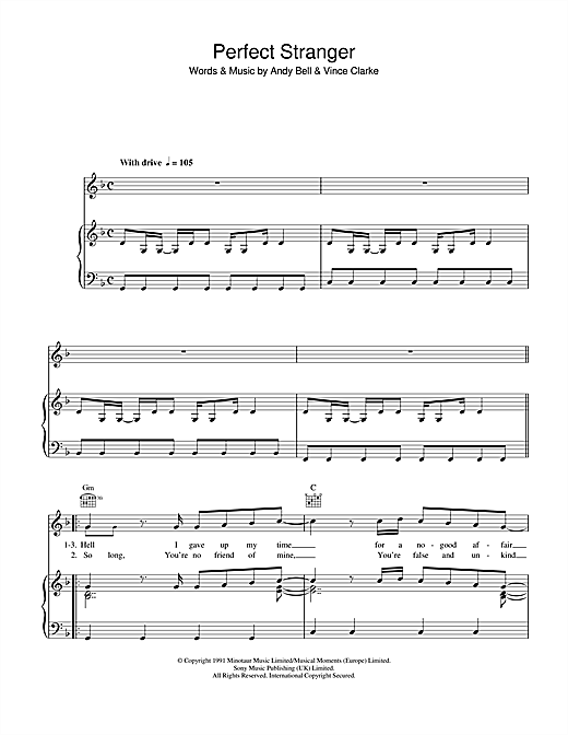 Perfect Stranger Sheet Music