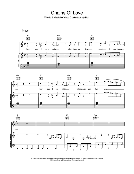 Chains Of Love Sheet Music