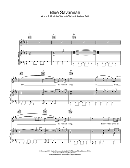 Blue Savannah Sheet Music
