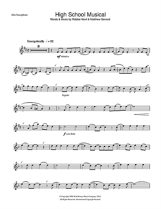 High School Musical (from Walt Disney Pictures' High School Musical 3: Senior Year) Sheet Music