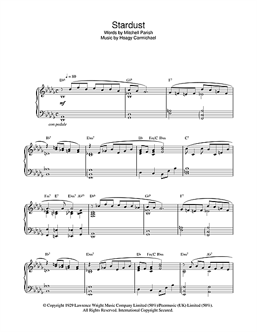 Stardust Sheet Music