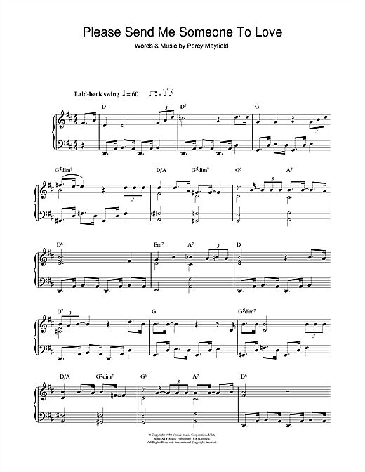 Please Send Me Someone To Love Sheet Music