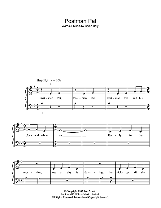 Postman Pat Sheet Music