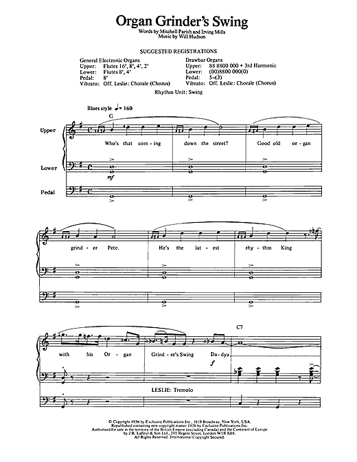 Organ Grinder's Swing Sheet Music