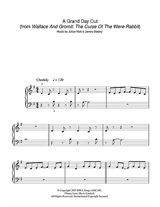 A Grand Day Out (from Wallace And Gromit: The Curse Of The Were-Rabbit) Sheet Music