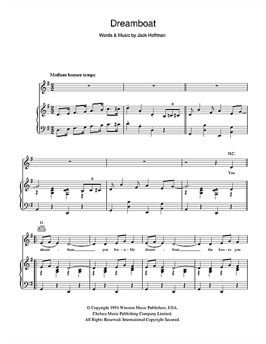 Dreamboat Sheet Music